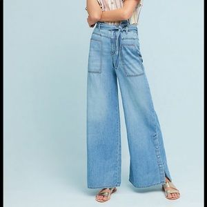 Pilcro High Waisted Wide Jeans